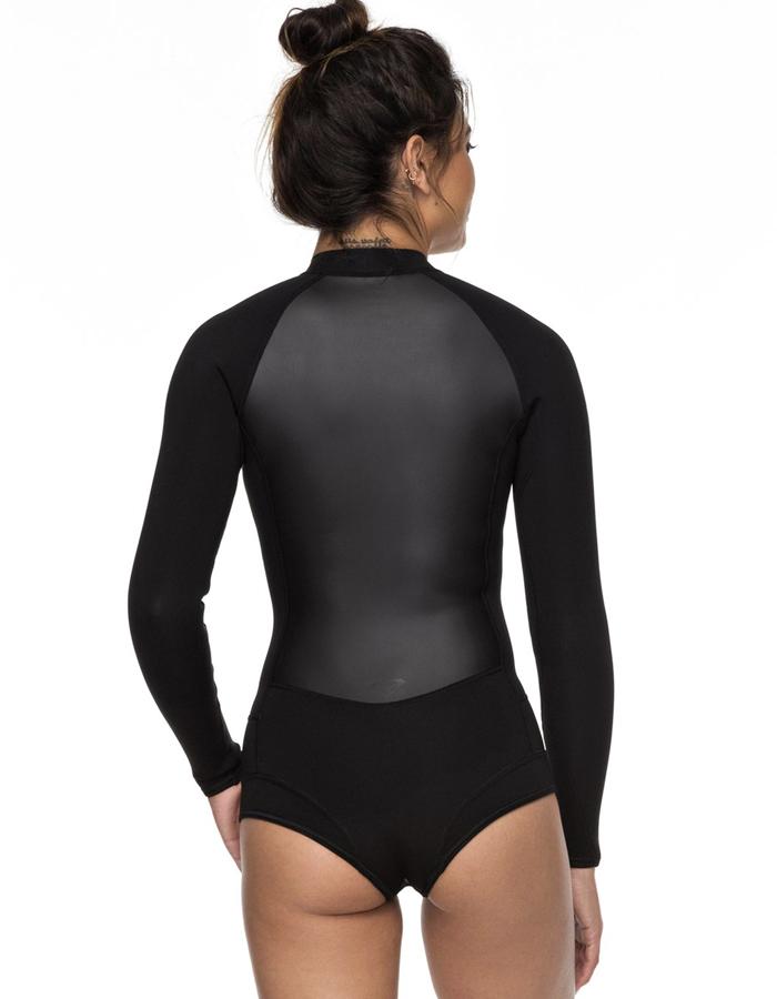 Roxy Womens 1Mm Satin Long Sleeve Front Zip Bikini Cut Shorty for Women Erjw403018