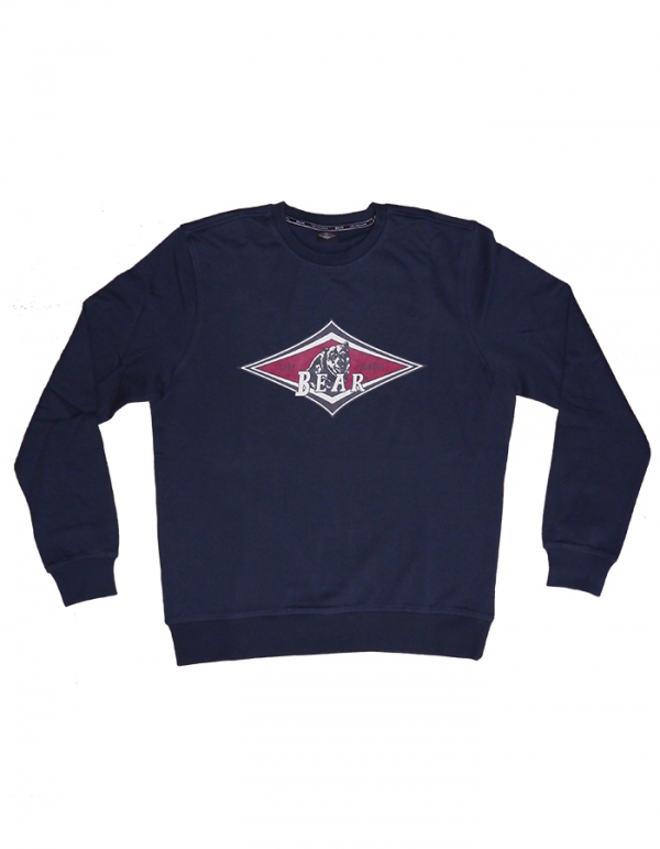 BEAR SURFBOARDS LIGHT FLEECE CREW NECK NAVY