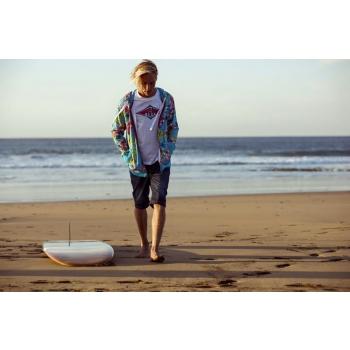 BEAR SURFBOARDS T-SHIRT LOGO COCONUT MILK