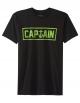 CAPTAIN FIN NAVAL T-SHIRT BLACK GREEN