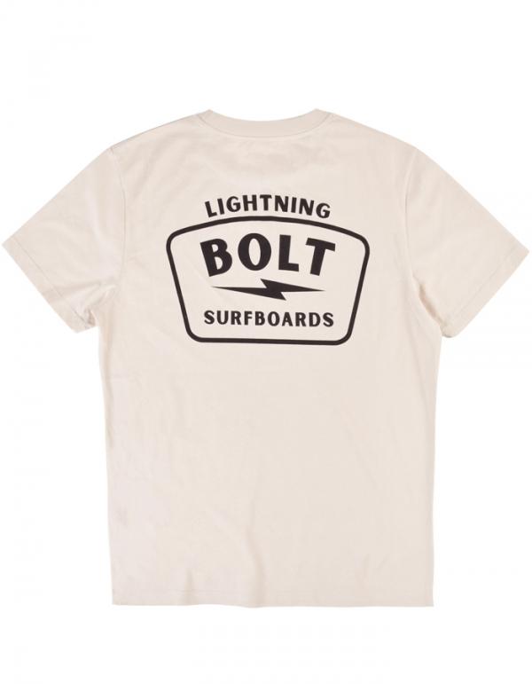 LIGHTNING BOLT SURFBORDS TEE WHITE