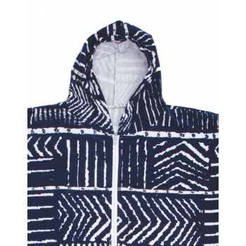 OCEAN & EARTH LADIES HOODED PONCHO NAVY