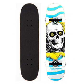 """POWELL PERALTA ASSY RIPPER ONE OF BIRCH 7.50"""" SKATE COMPLETE"""