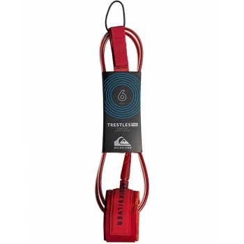 QUICKSILVER LEASH 6' TRESTLES PRO 6 mm. ULTRA-LIGHT