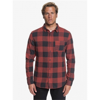 QUIKSILVER MOTHERFLY FLANNEL SHIRT RED