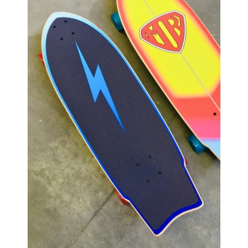 "QUIKSILVER MARK RICHARDS SUPER TWIN SURF SKATE 31"" BLUE"