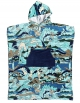QUIKSILVER HOODED TOWEL MEDIEVAL BLUE
