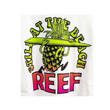REEF BLUE CHROMACITY T-SHIRT WHITE
