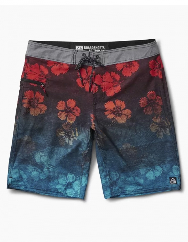 REEF VINES RED BOARDSHORT 20""