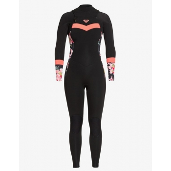 ROXY 4/3 SYNCRO SEIRES BACK ZIP WETSUIT BRIGHT CORAL
