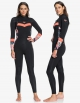 ROXY 4/3 SYNCRO SEIRES FRONT ZIP WETSUIT BRIGHT CORAL