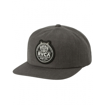 RVCA PATCH CAP SNAPBACK CHARCOAL HEATHER