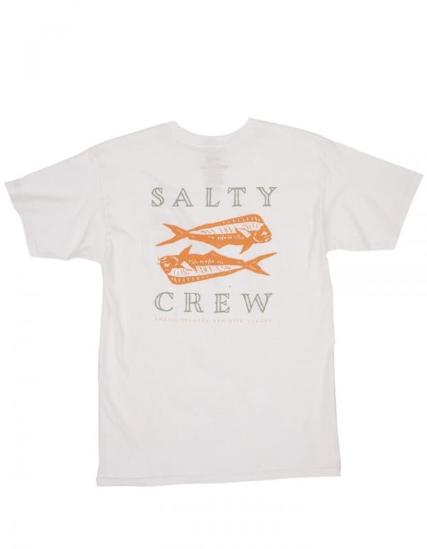 SALTY CREW DOUBLE UP WHITE TEE
