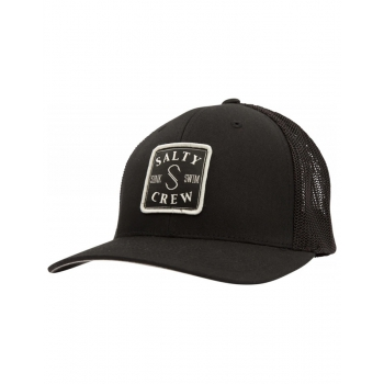 SALTY CREW S-HOOK RETRO TRUCKER BLACK HAT