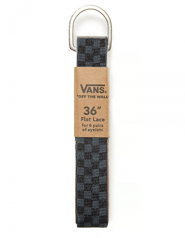 VANS BLACK CHARCOAL CHECKERBOARD LACES 36""