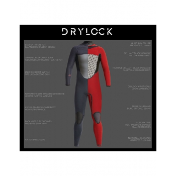 XCEL DRYLOCK 5/4 HOODED CELLIANT TDC WETSUIT 2019/20